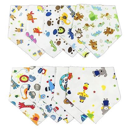 txian Cute dibujos animados patrón bebé Saliva Toalla algodón impermeable baberos Bandana desgaste fácil y limpia