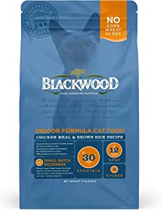 Blackwood Cat Food Made in USA [All Natural Dry Cat Food – Adult, Indoor, and Senior Formulas], Chicken Meal and Brown Rice Recipe