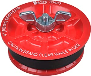 Oatey 33403 Plastic Plug (with Galvanized screw and wing nut), 4-Inch