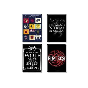 Of Thrones Combo Pack 4 Rectangular Fridge Magnet Birthday Gift