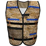VFunix Elite Tactical Vest Kits, Adjustable Camouflage Vest for Elite Series Blasters, More Places to Carry Extra Foam Darts and Clips