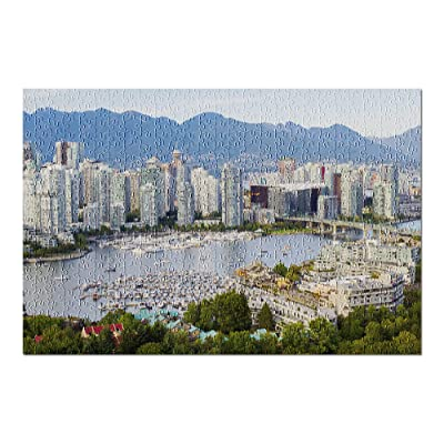 Vancouver, BC, Canada - Downtown Vancouver with North Shore Mountains - Photography A-93963 (Premium 500 Piece Jigsaw Puzzle for Adults, 13x19, Made in USA!): Toys & Games