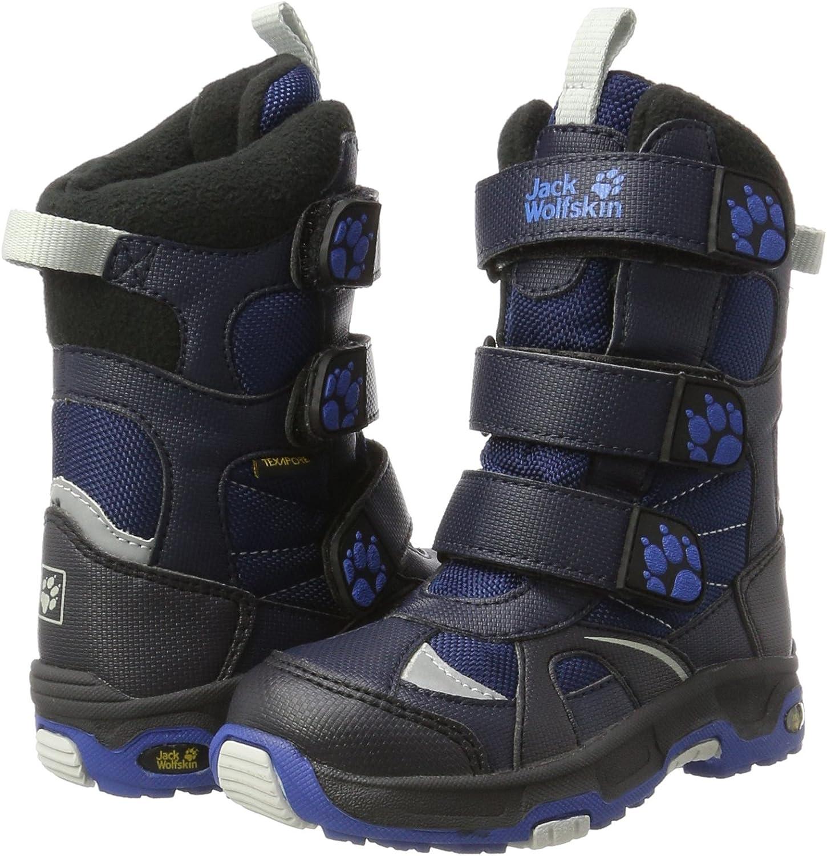 vibrant blue Jack Wolfskin Boys Snow Diver Texapore Boot 12.5 M US Little Kid