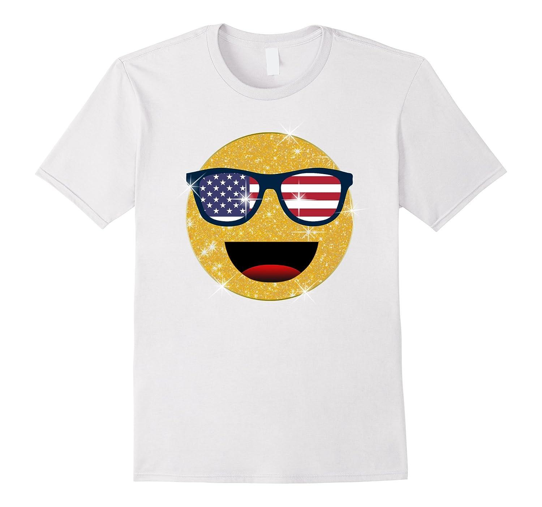 4ae4714e3b9c7 Emoji Shirts Funny 4th of July Sunglasses Emoji T-Shirt-ANZ ⋆ Anztshirt