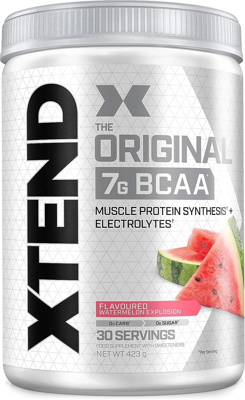 XTEND Original - Suplemento de BCAA en polvo - Sandía | Aminoácidos de cadena ramificada | 7 g de BCAA con electrolitos para una mayor hidratación y ...