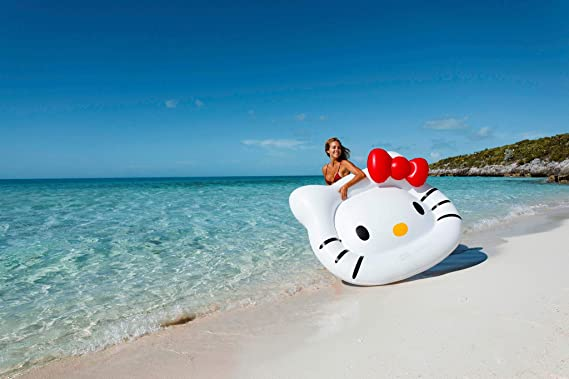 Amazon.com: Flotador gigante de natación con diseño de Hello ...