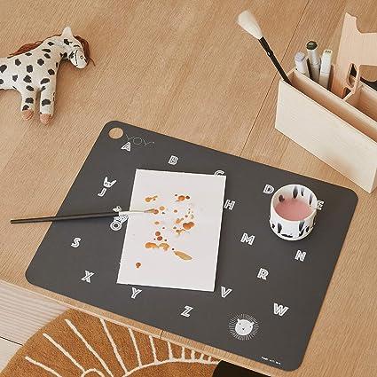 Luckyrainbow 1 dessous de verre en silicone pour enfants en forme de nuage mignon Set de table pour b/éb/é /Étanche Antid/érapant Isolation thermique Vert
