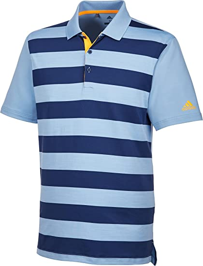 cbfab3490700 adidas Golf 2018 Ultimate 365 Rugby Golf Polo Shirt Mens Performance Top  Ash Blue Noble