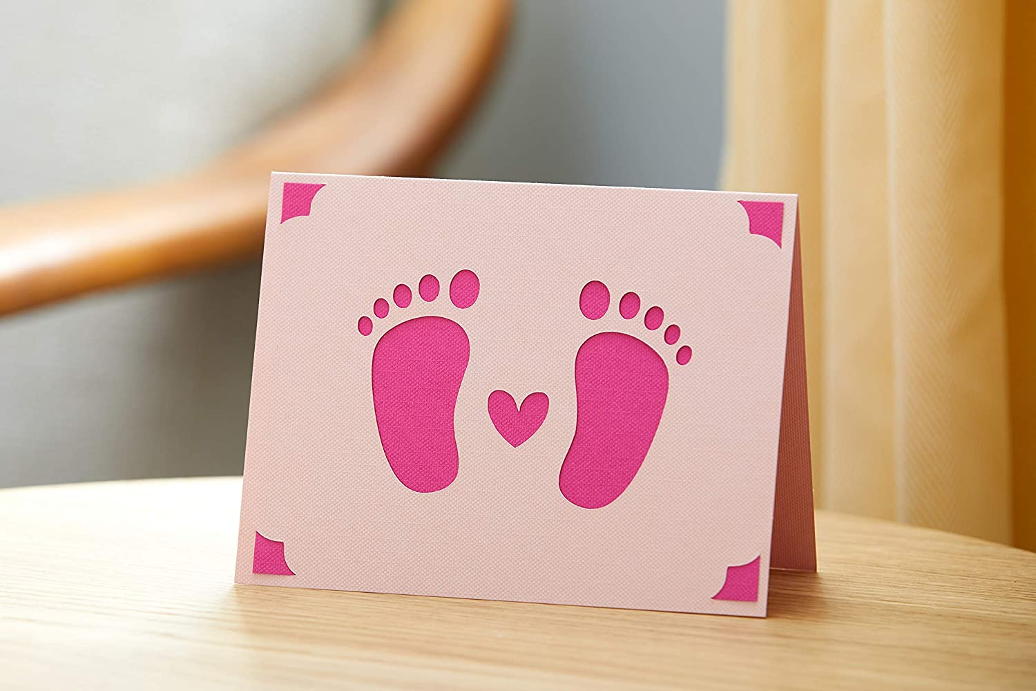 and Wedding Cricut Joy Insert Cards Gray//Silver Brushed 10 ct Birthday DIY greeting card for Baby Shower