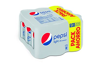 Pepsi Light refresco - Pack de 9 x 33 cl - Total: 2970 ml