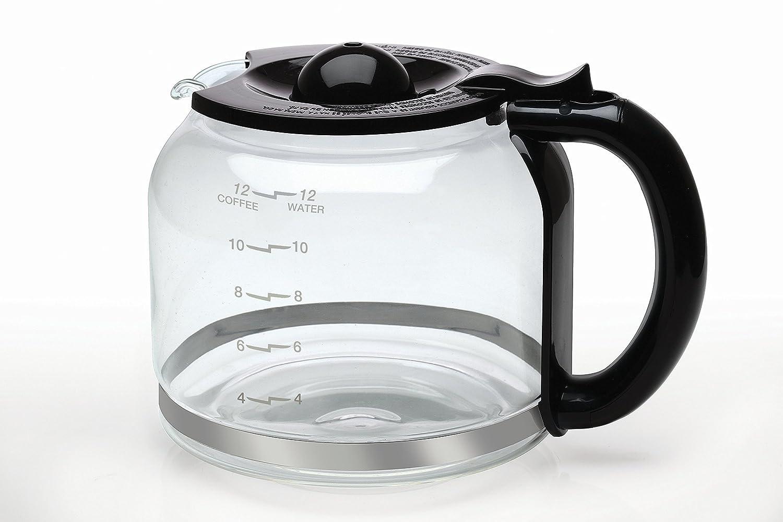 Capresso 4427.01 Glass Carafe 12 Cup, Black