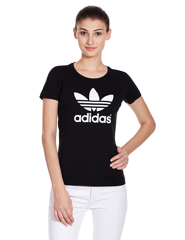 Black t shirt amazon - Adidas Women S Trefoil T Shirt Black Size 32 Amazon Co Uk Sports Outdoors