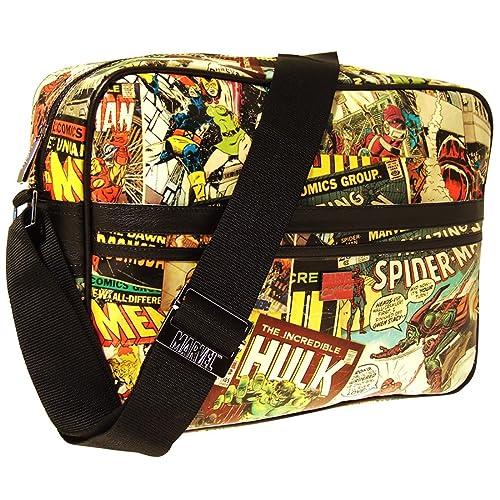 Marvel Retro Messenger Men s Travel Accessory Vintage Multi One Size   Amazon.co.uk  Shoes   Bags e63aac1531