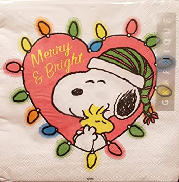 Snoopy And Woodstock Christmas.Amazon Com Graphique Snoopy Woodstock Merry Bright