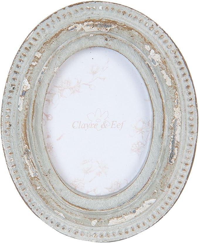 Clayre /& Eef Bilderrahmen Rahmen oval hoch shabby Chic vintage Foto Nostalgie