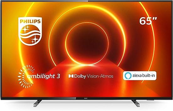 Tv philips 65pulgadas led 4k uhd - 65pus7805: Amazon.es: Electrónica