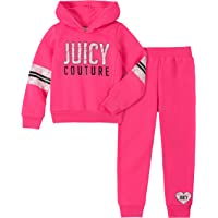Juicy Couture Baby Girls 2 Pieces Hooded Pullover Pants Set