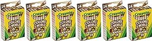 Crayola Bulk Crayon Set, Colors of The World Skin Tone Crayons, 6 Sets of 24 New Crayon Colors