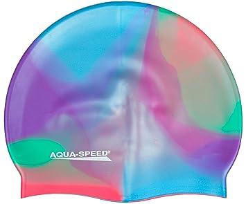 Aqua Speed BUNT Badekappe (Silikon Bademütze Badehaube), Bunt/51