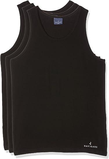 Navigare 572/S, Camiseta de Tirantes Para Hombre, Negro, Small (talla del fabricante: 3), Pack de 3: Amazon.es: Ropa y accesorios