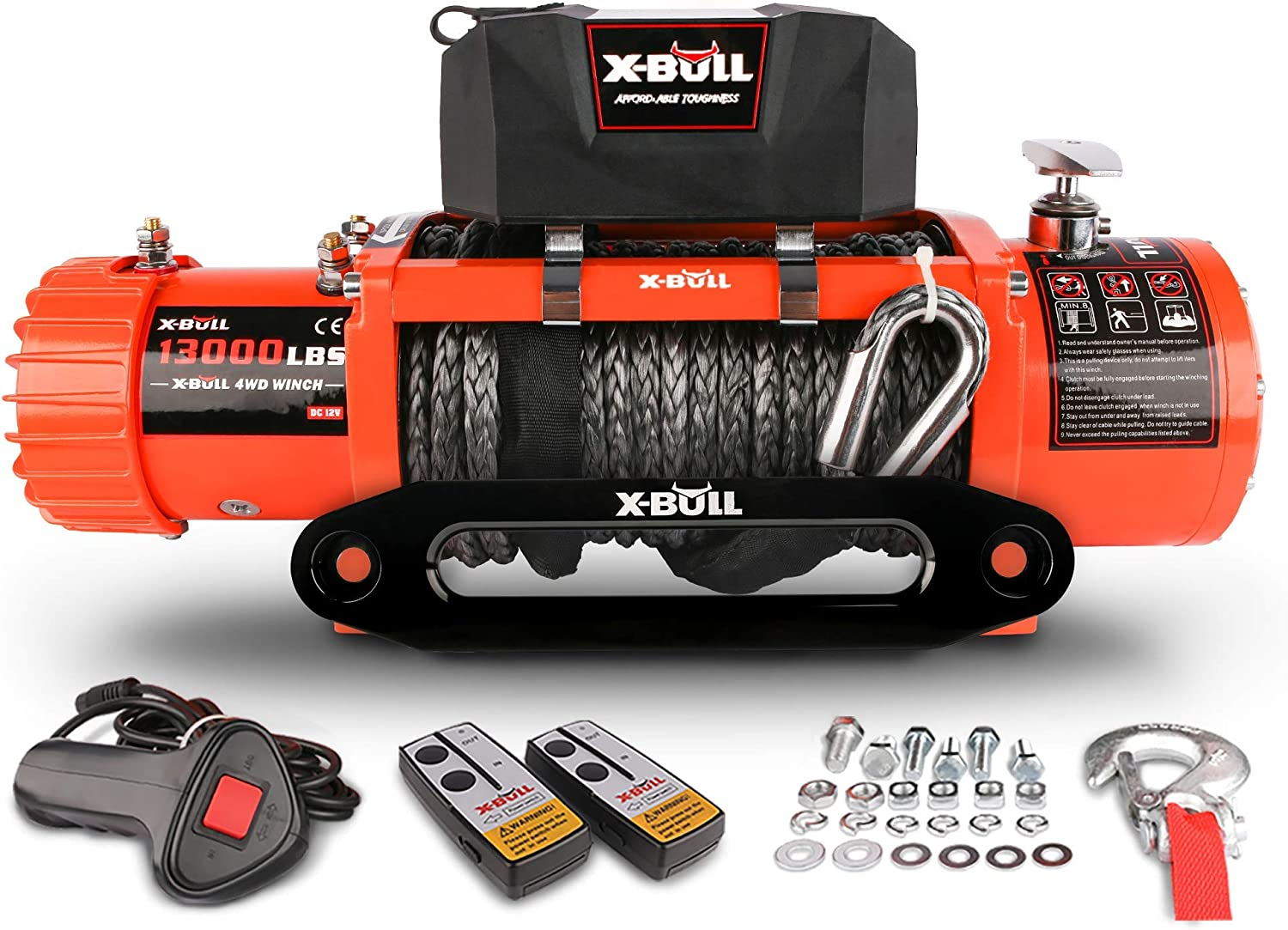 X-BULL 12V Synthetic Rope Winch