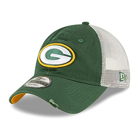 a3b9c8aeb19 Image Unavailable. Image not available for. Color  New Era Green Bay  Packers NFL 9Twenty Stated Back Adjustable Meshback Hat