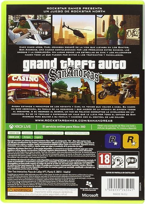 Grand Theft Auto: San Andreas - Classics: Amazon.es: Videojuegos