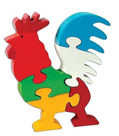 Skillofun Wooden Take Apart Puzzle Rooster, Multi Color