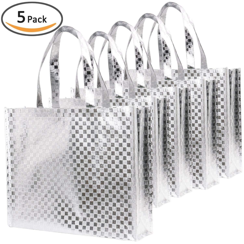 超可爱 (12pack-Gold) Gold - Rumcent Glossy Bling Reusable Bag,Goodies shiny Grocery Bag Tote Bag With Handle,Non-woven Fashionable Present Bag Gift Bag,Goodies Bag Shopping Bag,Promotional Bag,Totes,Bulk Bags Set Of 12 - Gold B075YTLF34 shiny silver square pattern shiny silver square pattern, サンダシ:e39b9f8d --- mail.hitlerdenim.com