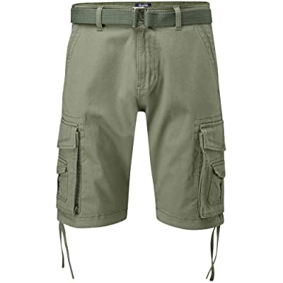 Charles Wilson Men's Comfort Stretch Belted Cargo Shorts | Amazon.com