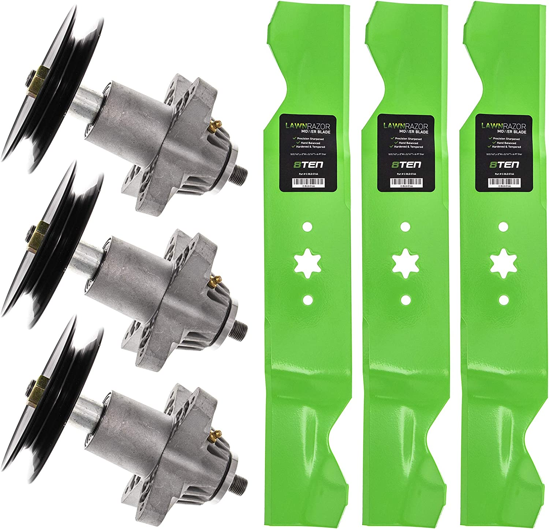 "Spindles-Blades-Hardware for Cub Cadet RZT54 MTD Troy-Bilt 54/"" Mowers"