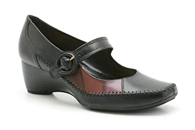 3f7f1110e93 K by Clarks womens Copper Dress black leather shoes 8 EE Extra Wide ...