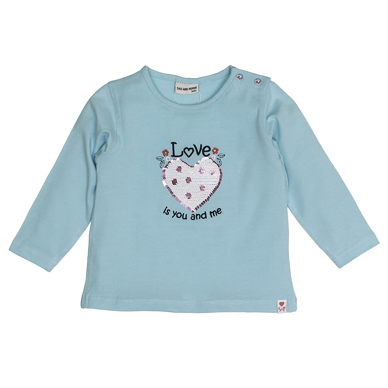 Salt /& Pepper B Longsleeve Love Uni Herz Camiseta de Manga Larga para Beb/és