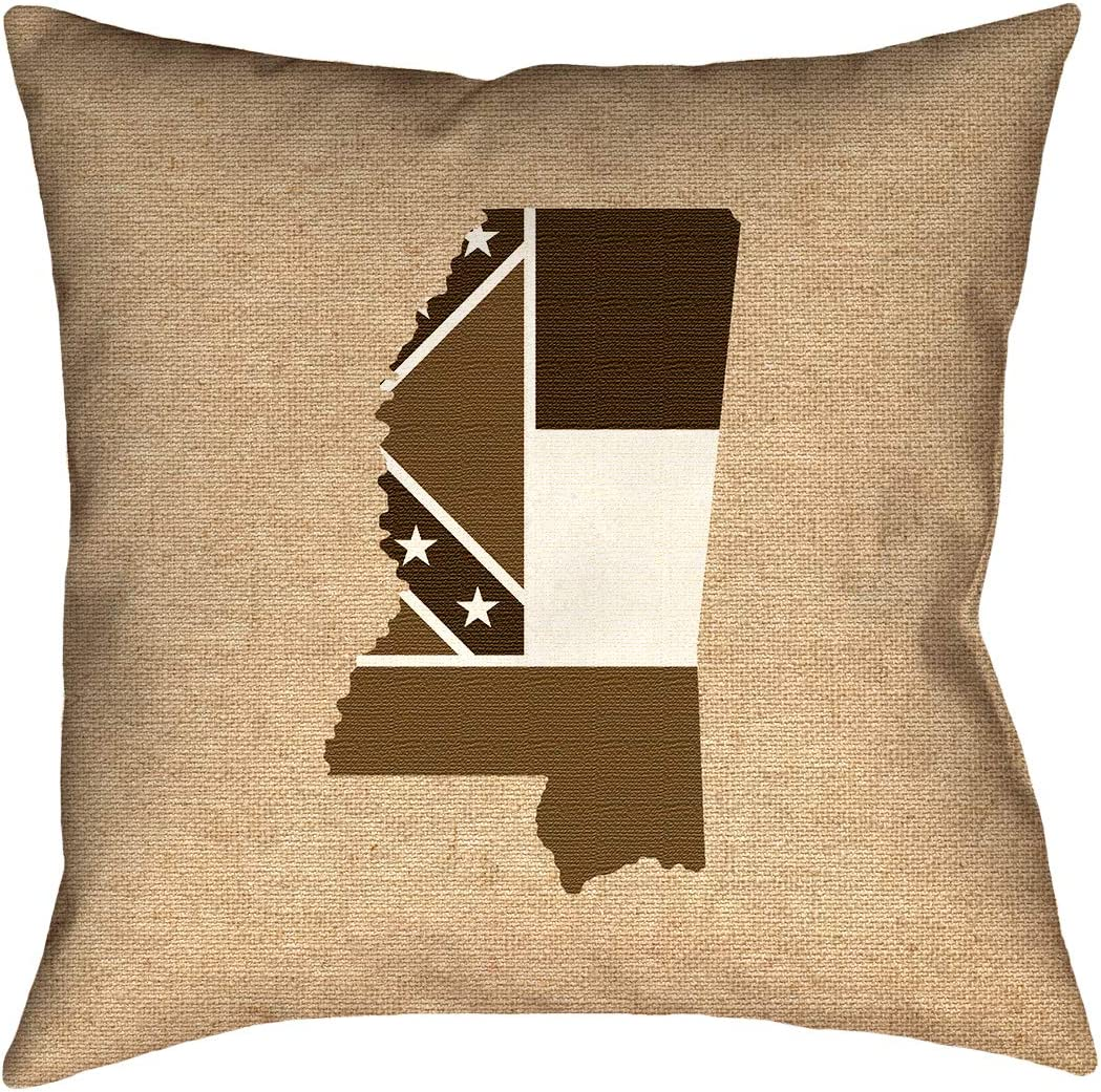 ArtVerse Katelyn Smith 26 x 26 Cotton Twill Double Sided Print with Concealed Zipper /& Insert Delaware Love Pillow