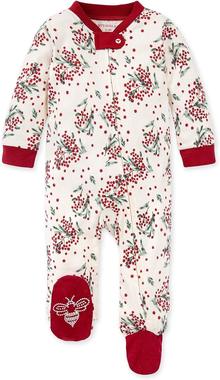 Burt's Bees Baby Baby Sleep & Play, Organic One-Piece Romper-Jumpsuit Pj, Zip Front Footed Pajama: Clothing