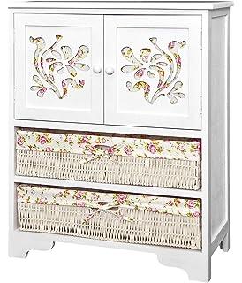 Commode En Bois Jersey Blanche Buffet Blanc Dressoir Style Interieur