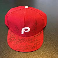 $264 » 1980 Philadelphia Phillies Team Signed Autographed Hat Cap With Pete Rose - Autographed MLB Hats