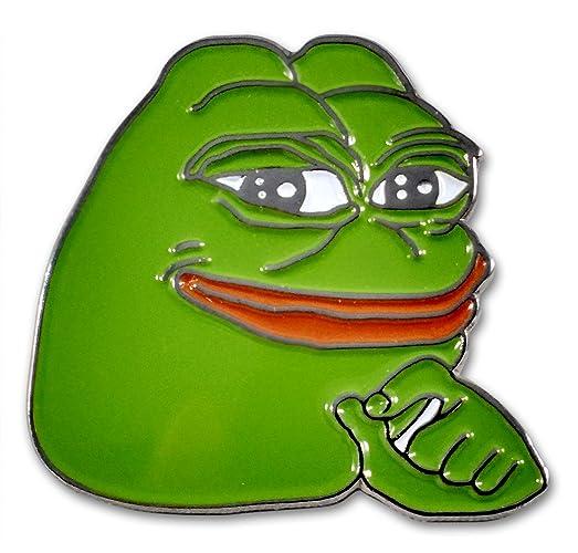 SMUG Pepe Frog Pin By MemeWerks