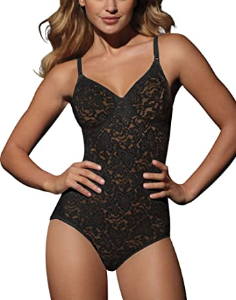 18d769cd6 Bali Lace `N Smooth Women`s Firm Control Body Briefer Black at Amazon  Women s Clothing store