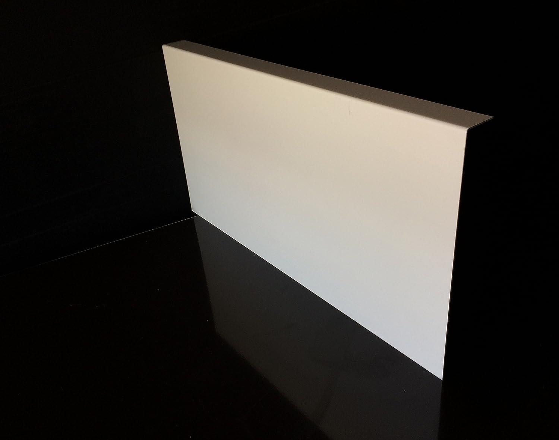 /épaisseur 1 mm Bandeau de Rive Alu Blanc Pure 17 tailles -Retour 2.5 cm x Hauteur 15 cm