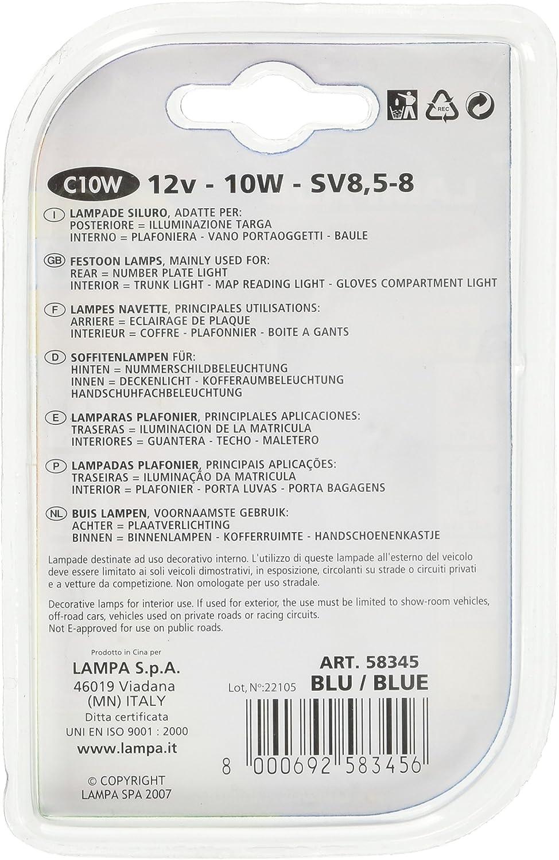 5 W Blu Lampa 58340 Lampada Tubolare 11 x 35 mm