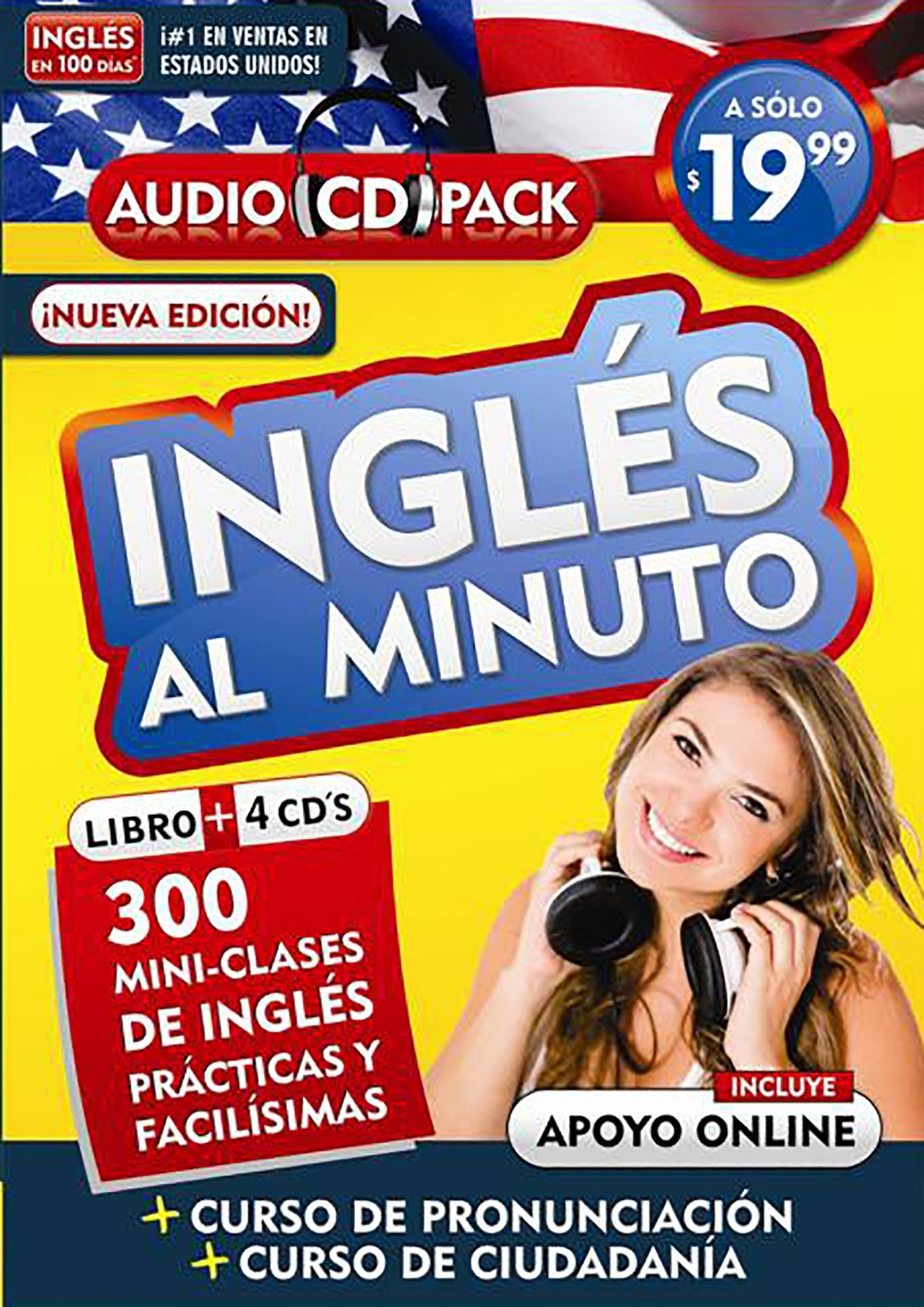 Inglés en 100 días - Inglés al minuto - Audio Pack (Libro + 4 CD's Audio)