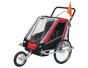 fixi Master Multifunktion 2 en 1 Remolque de bicicleta/Jogger bebé carro Jogger mano carro BT503 Rojo: Amazon.es: Bebé