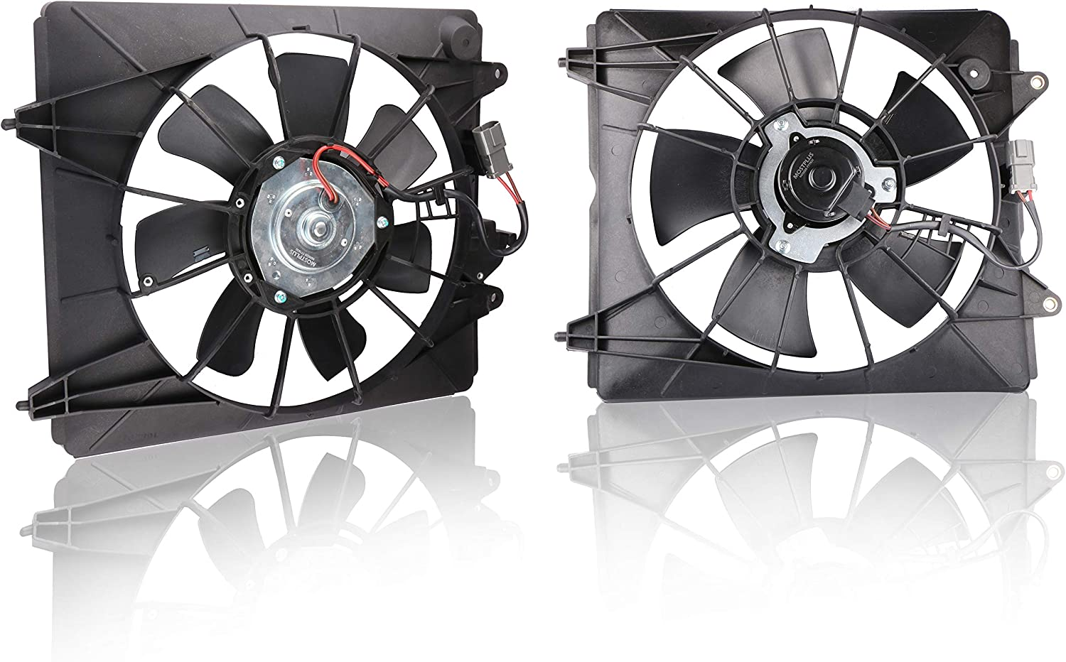 MOSTPLUS Left+Right Radiator and A/C Condenser Fan Assembly for 2007 2008 2009 Honda CR-V 2.4L Replaces 38615RZAA01