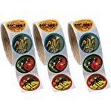"""Fun Express 3 Rolls Realistic Bug/Insect Stickers (3x100 Piece), 1.5"""""""