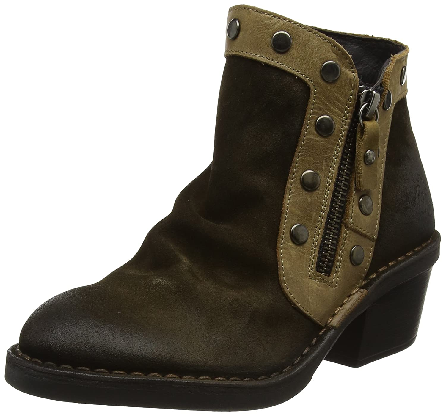 FLY London Women's Duke941fly Ankle Boot B06X9J4MFP 39 M EU (8-8.5 US)|Sludge/Olive