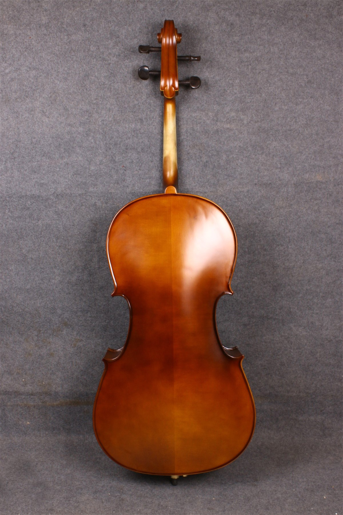 Yinfente Electric Acoustic Cello 4/4 Solid Maple Spruce wood Ebony Fittings Sweet Sound With Cello Bag Bow (Brown) by yinfente (Image #2)