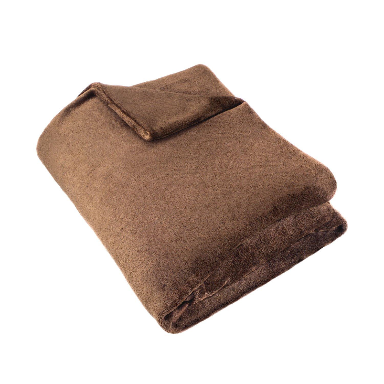 Cozy Fleece Super Soft Plush Blanket, Full/Queen, Solid, Navy FFBLK-Navy-FQ