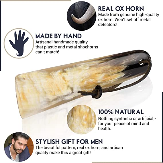 Best Gift Idea Gift for Men Personalized Long Shoe Horn Paddle Shoe Horn Genuine Horn Buffalo Horn Shoe Horn Shoe horn Key ring