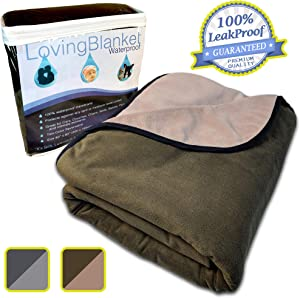 100% Leak Proof, Waterproof (See Video) Totally Pee Proof, 3 layer Blanket | Baby, Adults, Pets, Dogs & Cats Love the Cozy Softness | Reversible Large | Indoor Outdoor Camping Sports, Premium Quality